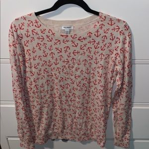 Old Navy anchor women sweater size M
